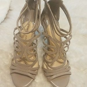 Gianni Bini Strappy Nude Sandals